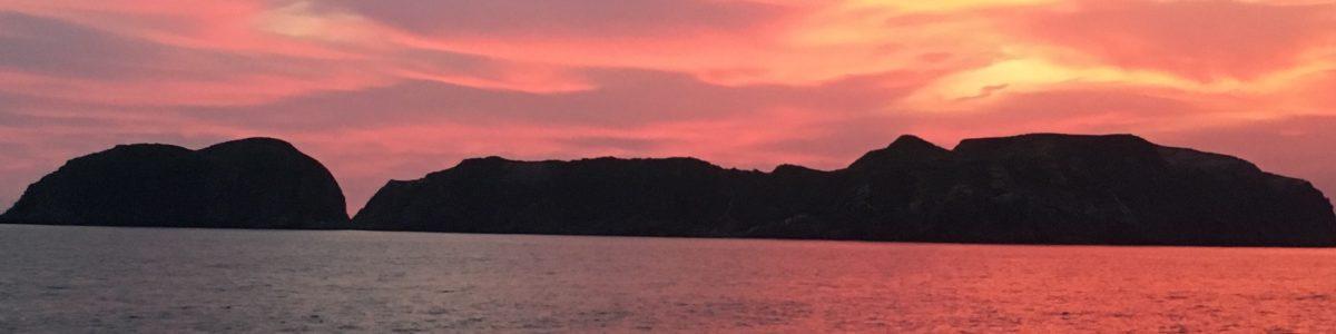 新島から見た夕焼け